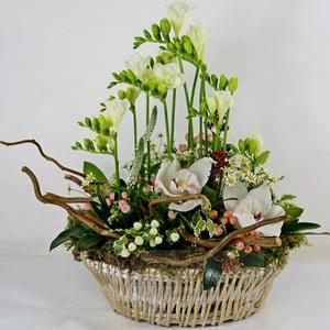 """Букет """"Лесное чудо"""" цветы в корзине"""
