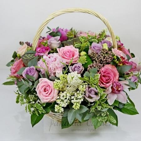 """Букет """"Анюта"""" цветы в корзине"""