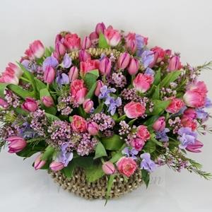 """Букет """"Фантастика"""" цветы в корзине"""