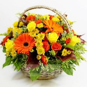"""Букет """"Нонна"""" цветы в корзине"""
