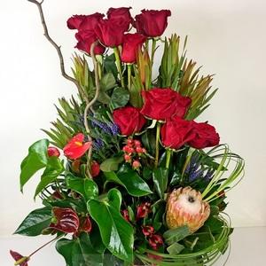 "Букет ""Сафари"" цветы в корзине"