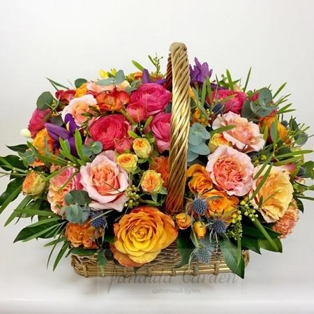 """Букет """"Летний зной"""" цветы в корзине"""