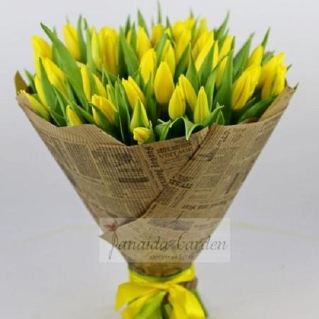 Мужской букет «Желтый тюльпан»