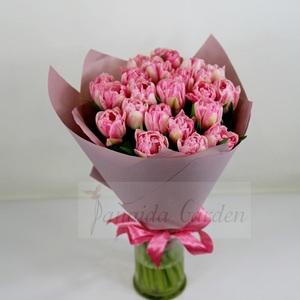 """Монобукет """"Весенние нотки"""" из тюльпанов"""