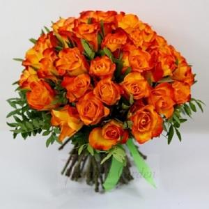 "Монобукет ""Солнце"" из роз"