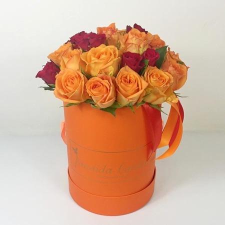 """Цветы """"Апельсин"""" в шляпной коробке"""
